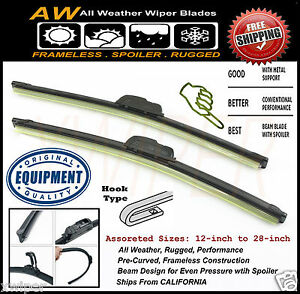 2PC-24-14-Direct-OE-Replacement-Premium-ALL-Weather-Windshield-Wiper-Blades