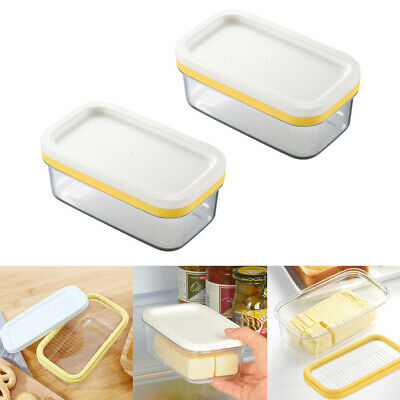 Vintage Retro Ceramic Butter Cheese Dish With Lid Kitchen Holder Tray Storage