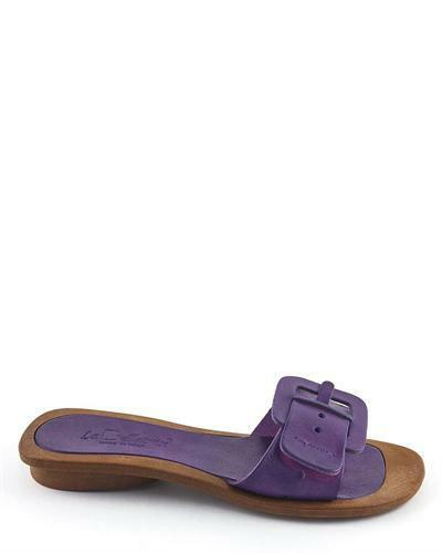 Bellatrix Handmade Sandals Italy Leather Purple Slippers La Mules CFxwzqpwZ