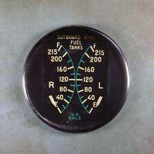 "Vintage Aircraft Wing Fuel Tank Gauge Fridge Magnet 2 1/4""  WW2 B-24 Liberator"