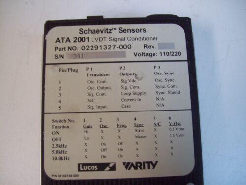 FREE SHIPPING SCHAEVITZ SENSORS ATA 2001 LVDT SIGNAL CONDITIONER DIGITAL USED