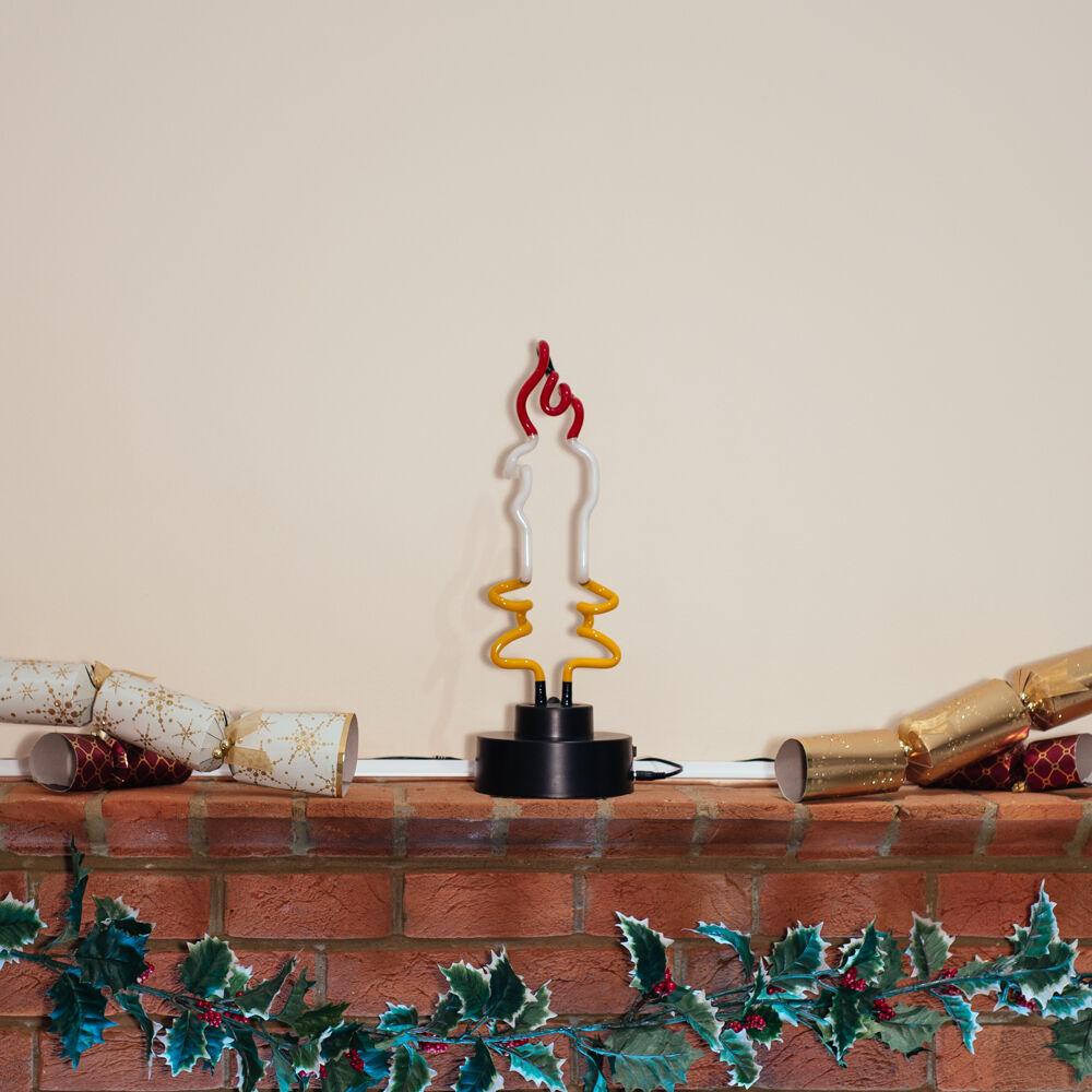 Echt Echt Echt handgefertigte Glas Neon Dekoration Festliche Staffel Weihnachten Kerze | Nutzen Sie Materialien voll aus  3bd424