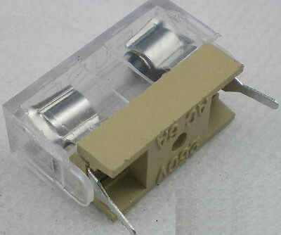 50pcs Panel Mount PCB Fuse Holder Case w Cover 5x20mm