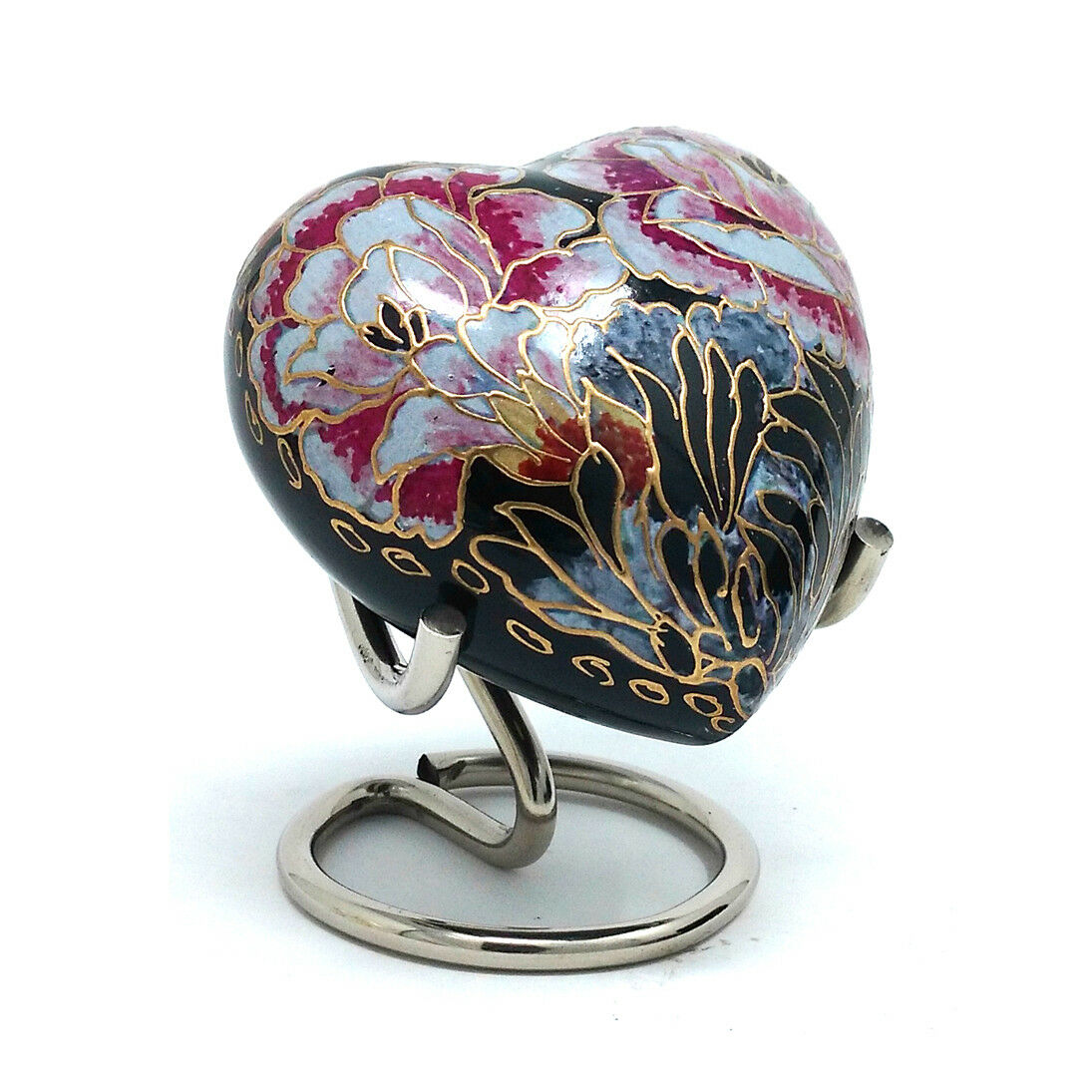 Floral Blaush Heart Keepsake Mini Container for for for Cremation Ashes. a655ae