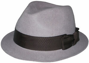752de4e4603cb PAUL SMITH BY CHRISTYS TRILBY WASHED GREY WOOL HAT SZ-M   L MADE IN ...