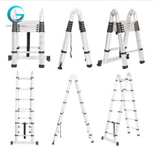 165ft Telescopic Extension Ladder Aluminum Folding Step Multi Use Non Slip Us
