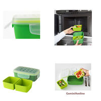 Ikea Lunch Box With Removable Insert Microwavable Green Leak-proof Lid