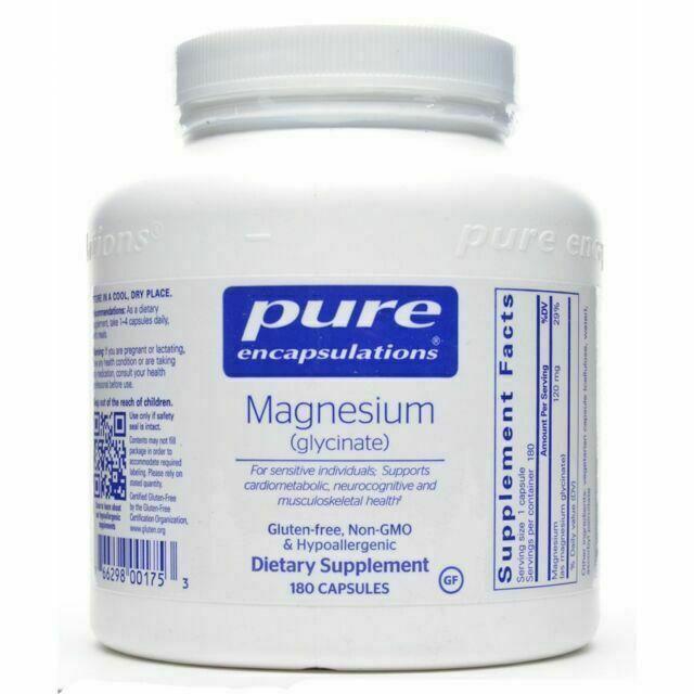Pure Encapsulations - Magnesium (Glycinate)  180 caps