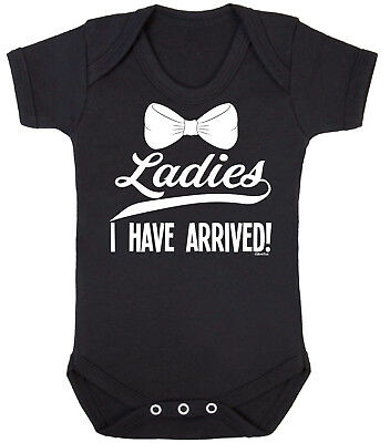 Ladies I Have Arrived Cute Funny Slogan Printed Babygrow Vest Bodysuit Sleepsuit Baby Clothes