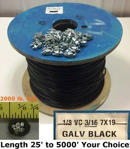 Vinyl Coated Steel Aircraft Cable Wire 1/8\