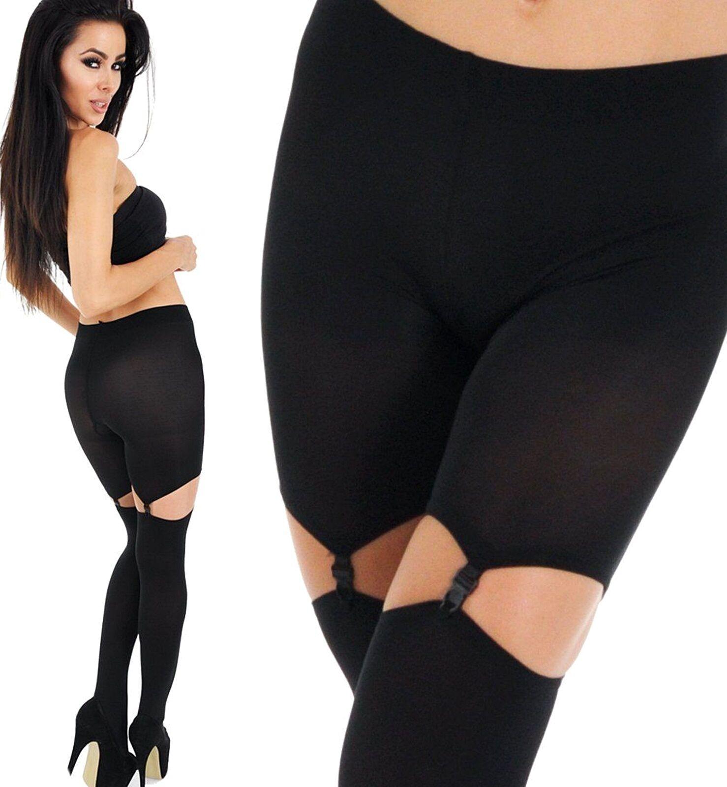 SEXY Straps-Set Strümpfe schwarz Strapse mit Strapshöschen Strapshalter 80 den