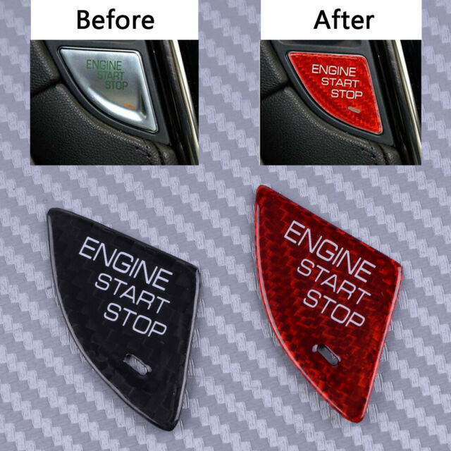 Engine Start Stop Button Switch Cover Trim Fit For