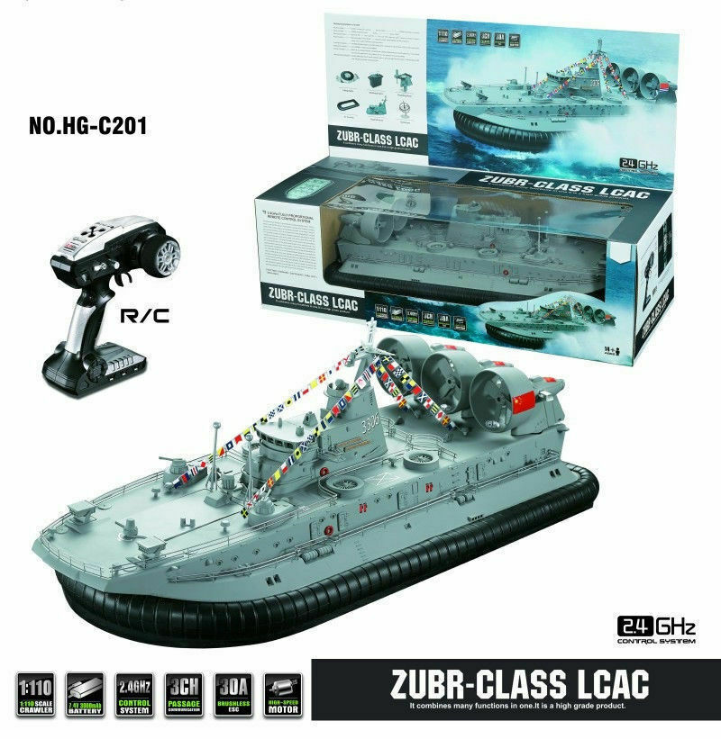 HG-C201 1 110 2.4G 3 Channel 2212 Brushless Motor Simulation Hovercraft RC Boat