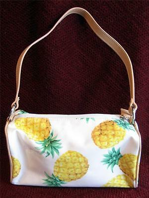 Hype Purse Handbag Pineapples Hawaiian Fabric