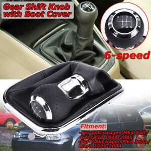 6 Speed Shift Knob Gaitor + Boot For VW MK4 Golf GTI R32 Jetta Bora   .! AL!