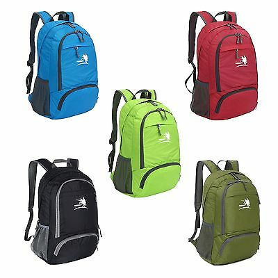Unisex Lightweight Foldable Outdoor Backpack Travel Sport Camping School Bags