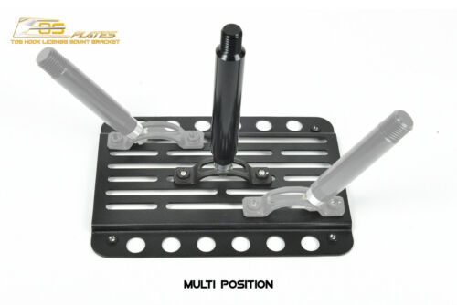 EOS Plate For 12-16 Audi S6 C7 W// PDC Front Bumper TowHook License Mount Bracket
