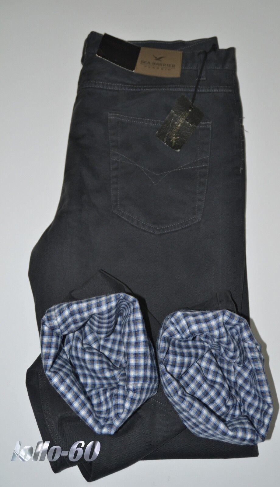 Pantalone uomo in cotone taglia caldo termico taglia cotone 54 Grigio foderato tela felpata 7c6157