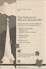 New Anthems for Fall and Christmas 1993 Sheet Music 3 Anthems