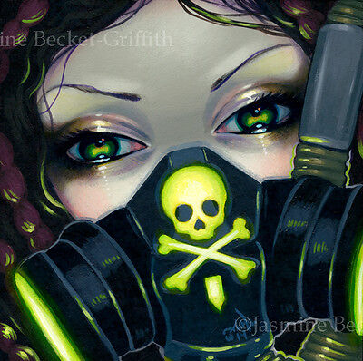 Fairy Faces 219 Jasmine Becket-Griffith art faery cyberpunk SIGNED 6x6 PRINT