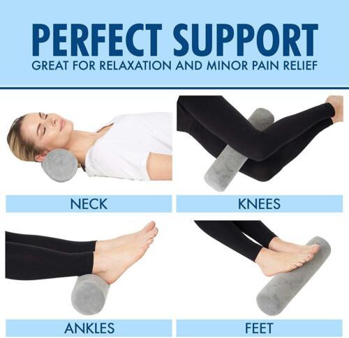Bolster Pillow Cervical Neck Roll Memory Foam Pillow Round Neck Sleep Support