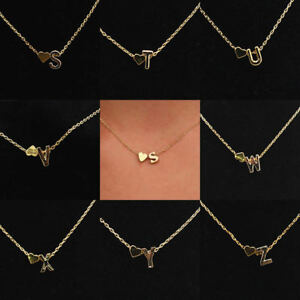 36c2040a66b259 Image is loading UK-Alphabet-Letter-Initial-Pendant-Love-Chain-Necklace-