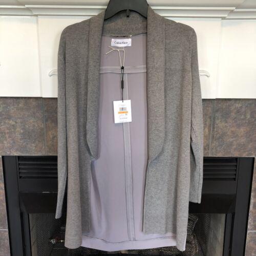 manches chandail Ck courtes cardigan Calvin Klein New Nwt à gris FRqB88
