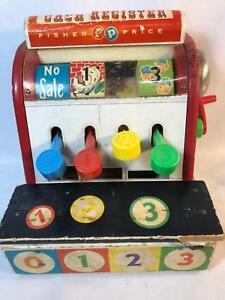 Vintage-Fisher-Price-Cash-Register-Toy-East-Aurora-New-York-Works