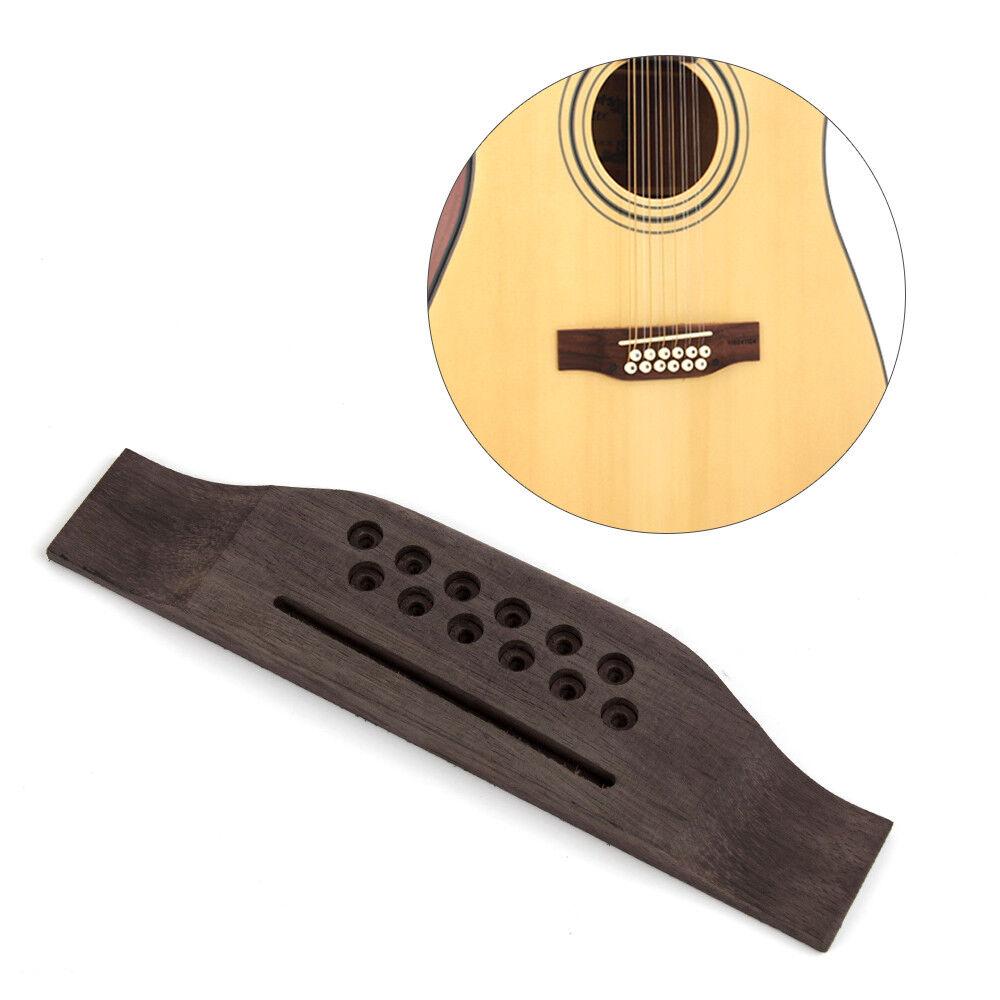 guitar bridge for 12 string acoustic guitar parts oversized pack of 2 634458687683 ebay. Black Bedroom Furniture Sets. Home Design Ideas