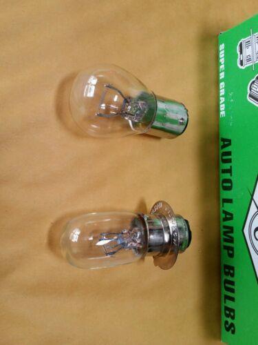#62 Honda Headlight Rear Bulb 6v 25w//25w CL70 CL90 Scrambler CM91 S90 Super 90