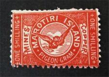 nystamps British New Zealand Stamp Mint OG H $240 1899 Pigeon Post