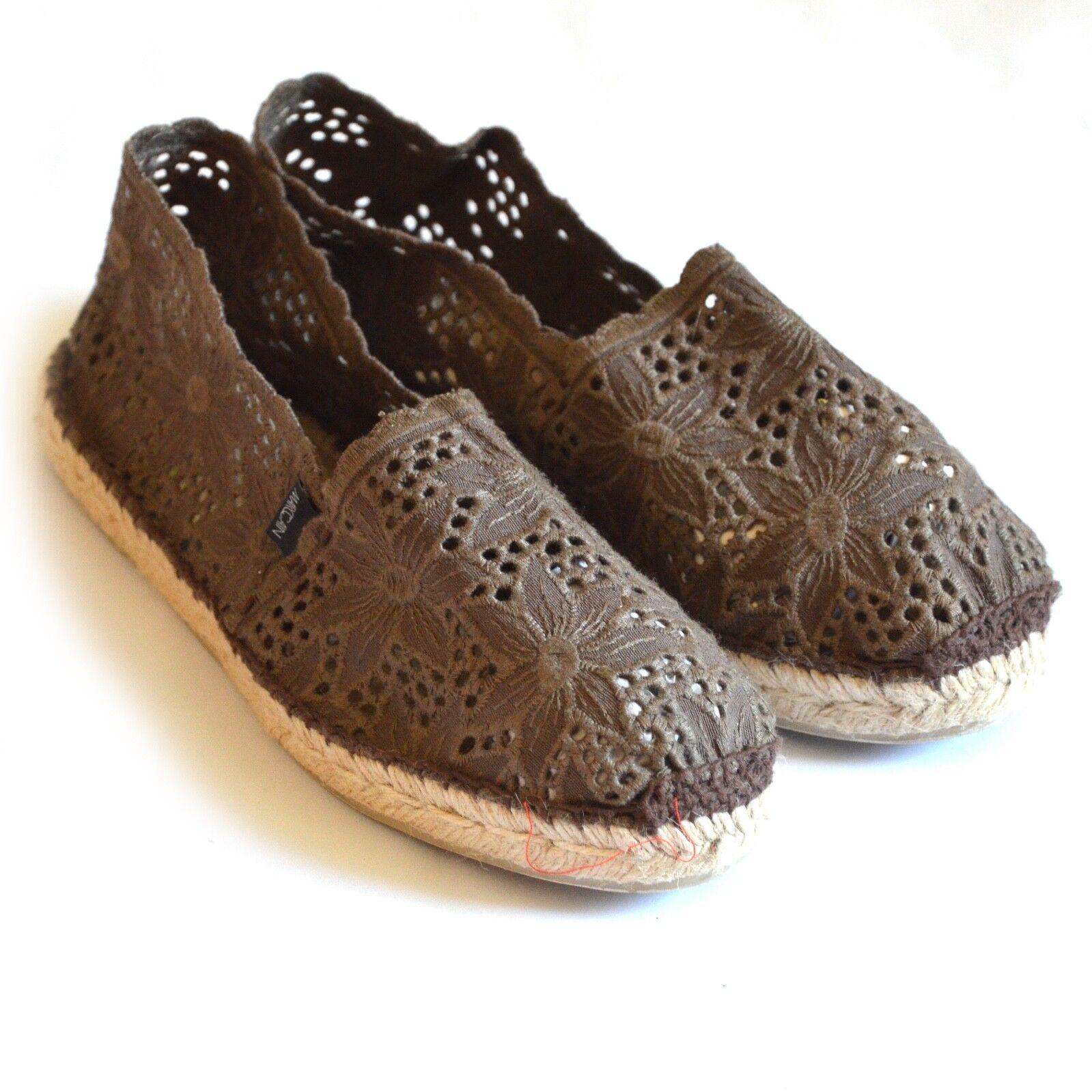 MARC CAIN braun, Espadrilles Schuhe Stroh Spitze, braun, CAIN Gr. 39, neu ffd690