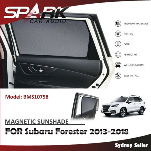 CT MAGNETIC CAR WINDOW SUN SHADE BLIND REAR DOOR FOR Subaru Forester 2013-2018