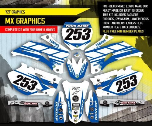 2006 2007 2008 2009 YAMAHA YZ 250F YZ 450F GRAPHICS KIT MOTOCROSS DIRT DECALS