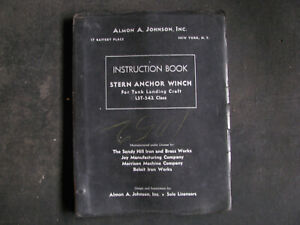 WWII-JOHNSON-50hp-ELECTRIC-STERN-ANCHOR-WINCH-WINDLASS-Manual-USN-LST-SHIP-vtg