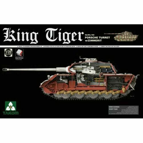 1 35 Takom Sd.Kfz.182 King Tiger Porsche (with Interior& Zim) new tracks  2046S