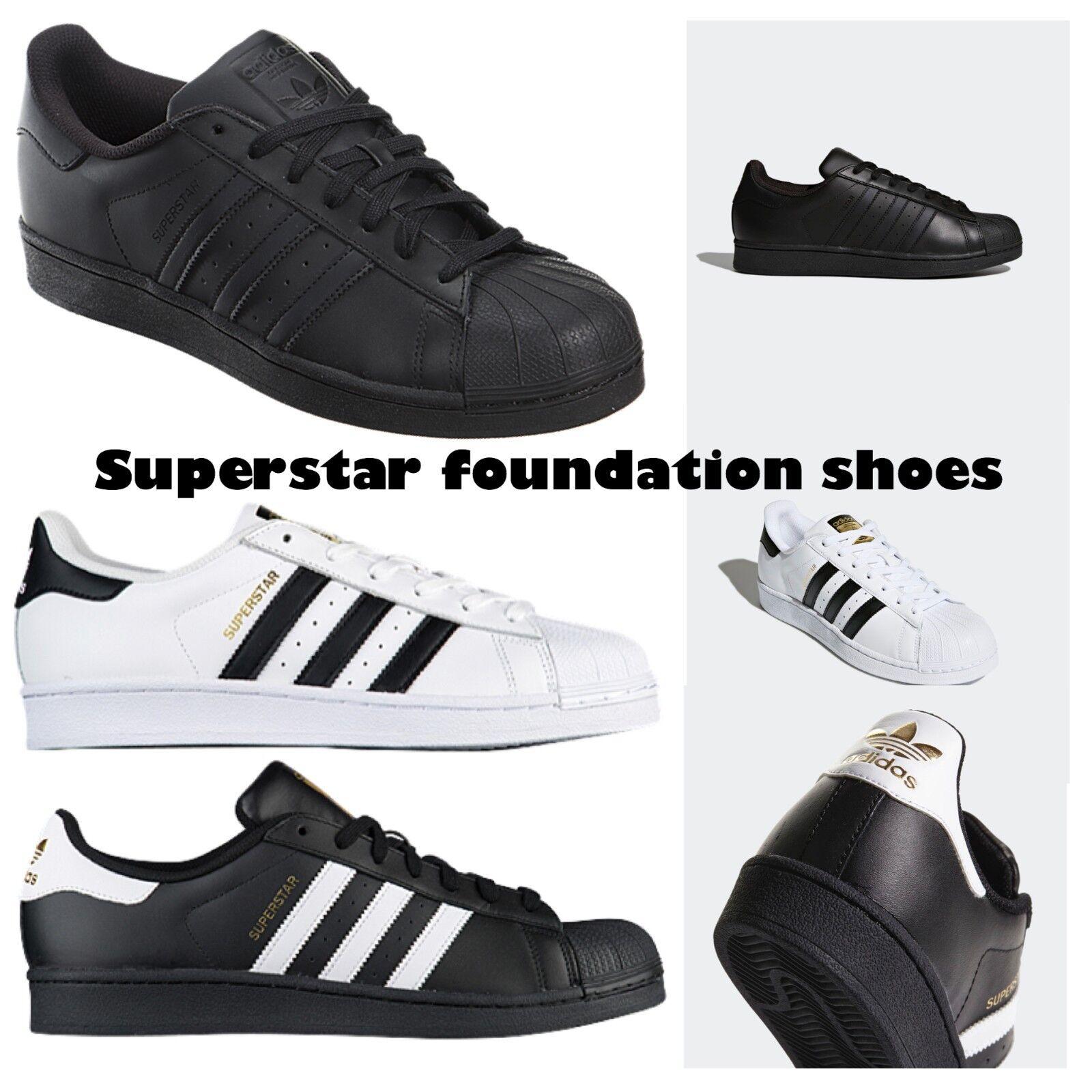 Adidas Superstar Unisex  Men's Women's WHITE BLACK FOUNDATION Trainers Shoes Cheap women's shoes women's shoes