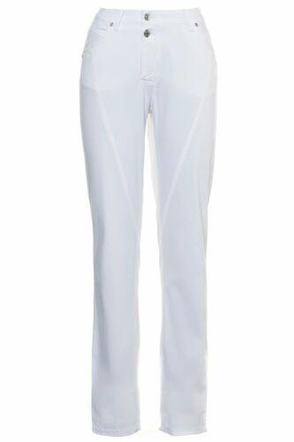 GINA LAURA Pantalon Anna NG Diagonales Couture Blanc Neuf