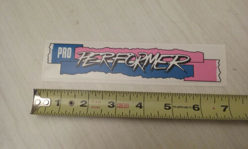 1987 GT Pro Performer handlebar decal blue white /& pink on clear old school bmx