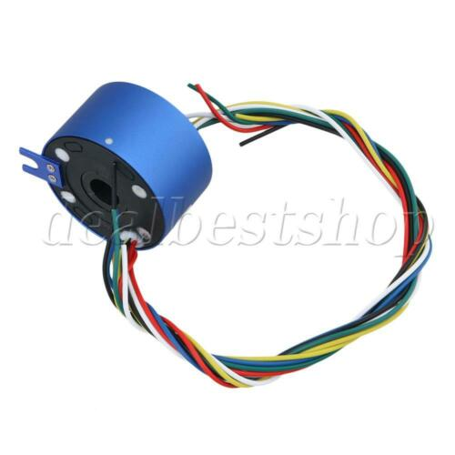 Blue 54mm OD Cable 380V 6 Wires 10A Hole 12.7mm Dia Capsule Slip Rings