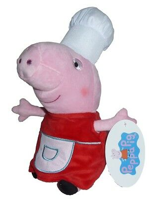 Peppa Pig Wutz Rot Kochmütze ca 30 cm Plüschtier Stofftier Plüschfigur Plüsch