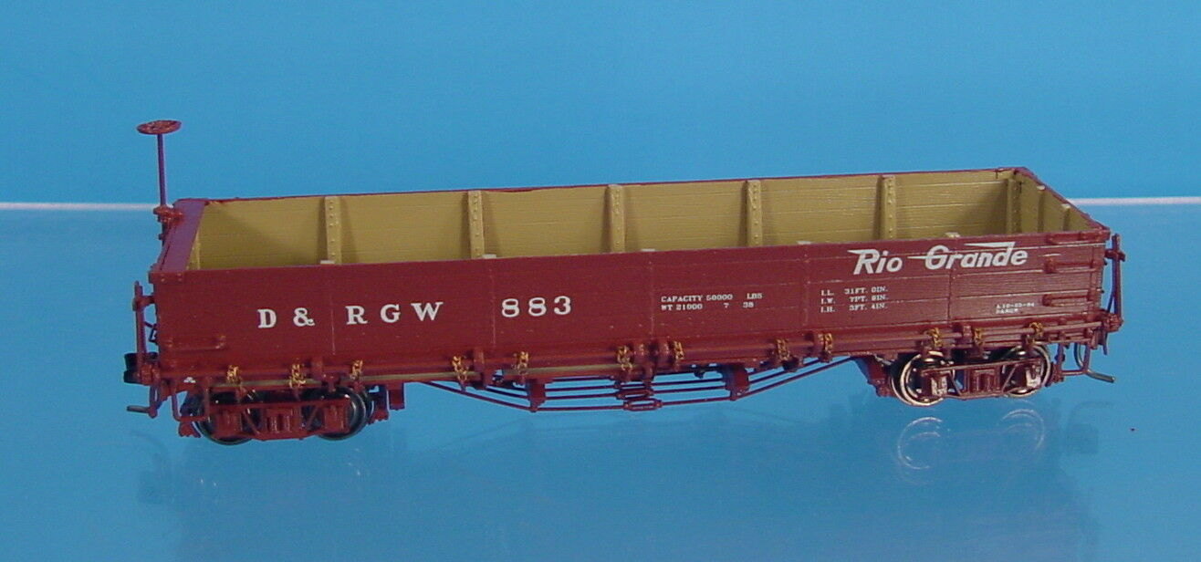 TG HOn3 BRASS DIVISION POINT D&RGW 800 SERIES DROP-BOTTOM GONDOLA  883