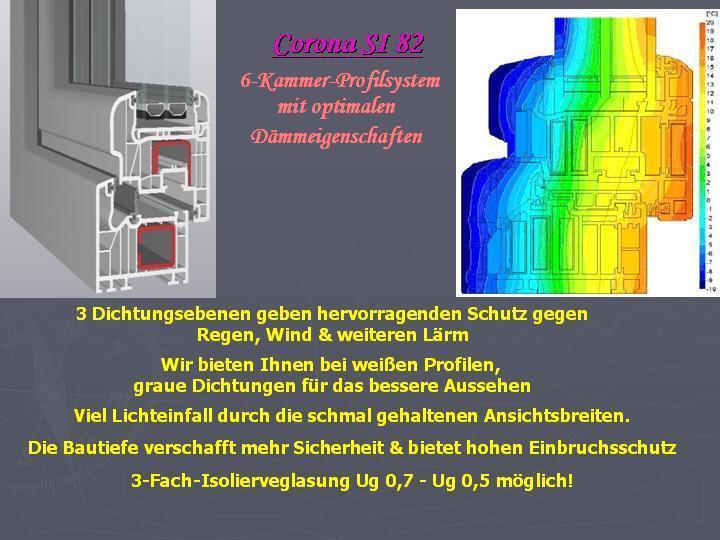 SCHÜCO Kunststoff-Fenster, weiß Profilsystem Corona SI 82, 82, 82, Farben möglich 2ee46b