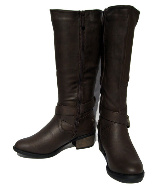 New New New Women's Motorcycle  Riding BOOTS Brown Winter Snow shoe Ladies size 6 25910d