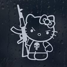 Hello Kitty AK-47 Car Window Windscreen Body Panel Laptop Decal Vinyl Sticker