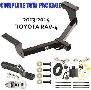 trailer tow hitch fits 2013 2017 toyota rav4 wiring kit rh ebay com 2011 toyota rav4 trailer hitch wiring 2013 toyota rav4 trailer hitch wiring