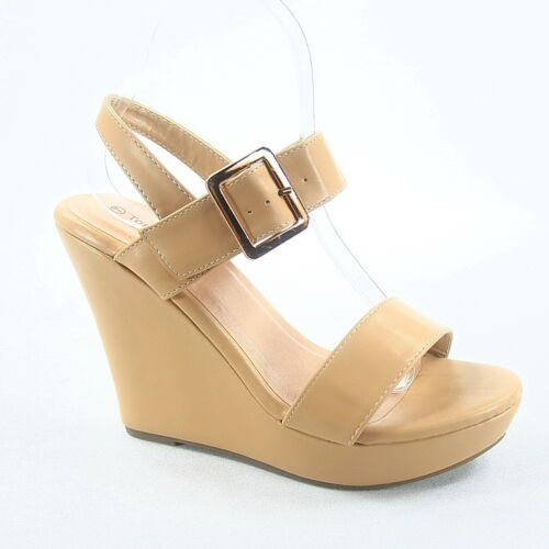 Women/'s Fashion Causal Buckle Wedges Heel Platform Sandal Shoes Size 5-11 NEW