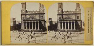 Parigi Istantanea Chiesa Saint-Vincent-De-Paul Da Foto Stereo Vintage Albumina