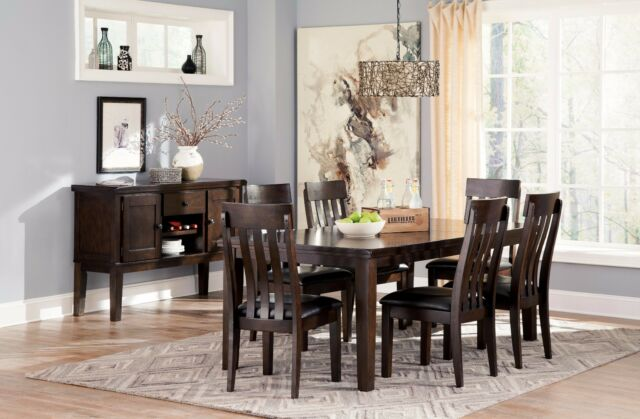 Ashley Furniture Haddington 7 Piece Dining Room Set D596