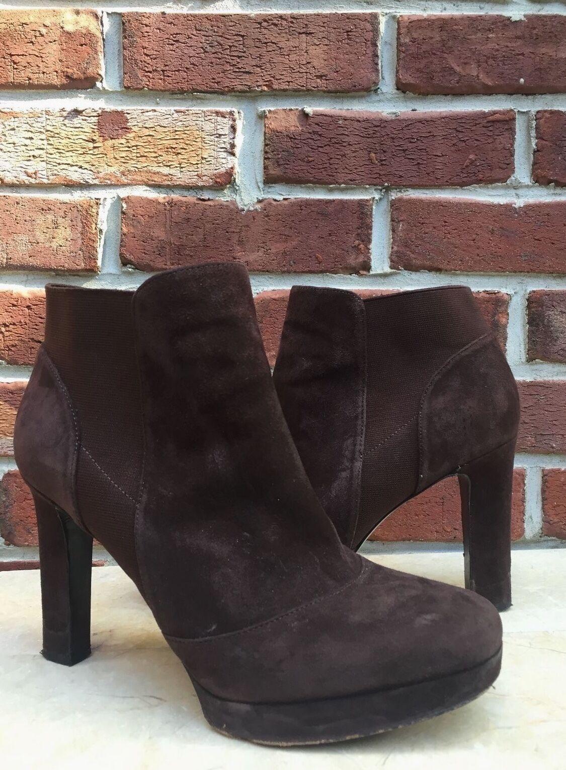 negozio di moda in vendita VIA SPIGA Tocarra Dark Dark Dark Marrone Suede Ankle avvio avvioies Heel 9.5 RARE   economico online